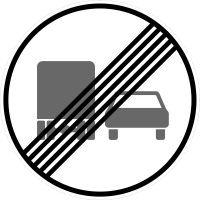 VZ 281 Ende des Überholverbots für Kraftfahrzeuge über 3,5 t