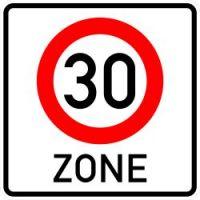 Beginn einer Tempo 30-Zone