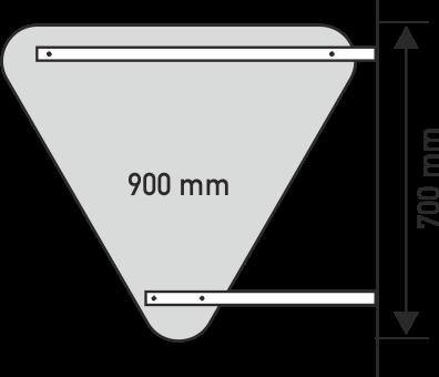 Wandhalter für Verkehrszeichen