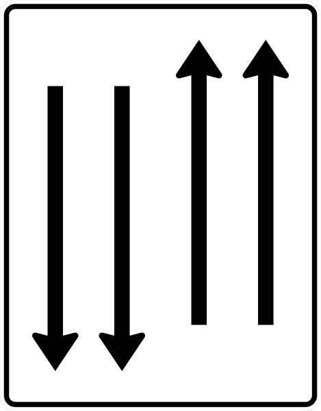 VZ 522-33 Fahrstreifentafel