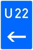 VZ 460-11 Bedarfsumleitung, hier links