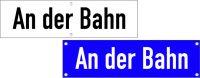 Straßennamenschilder mittig bis 10 Zeichen