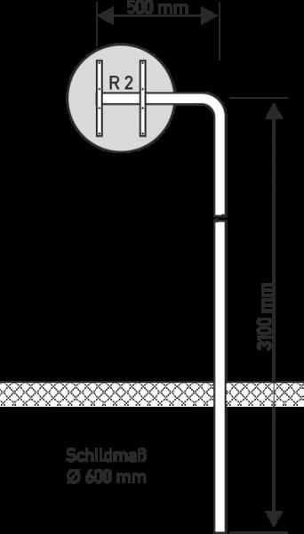 Ausleger Rohrpfosten 500mm