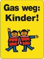 Gas weg: Kinder
