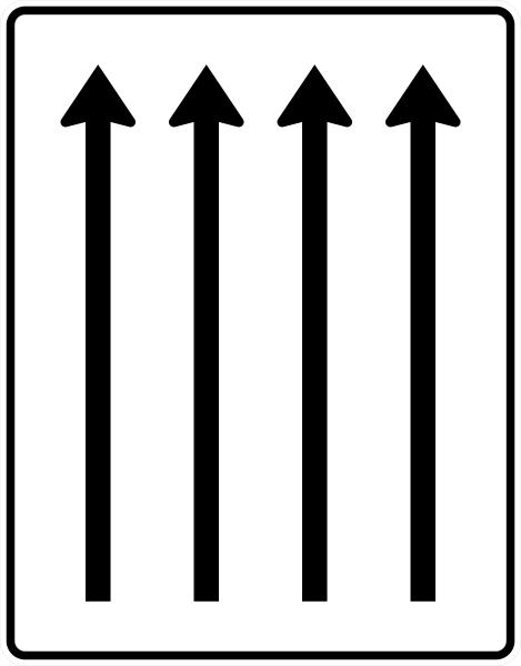 VZ 521-32 Fahrstreifentafel