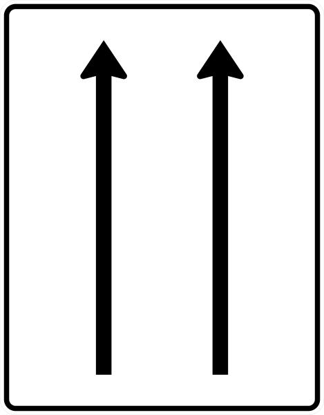 VZ 521-30 Fahrstreifentafel
