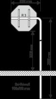Ausleger Rohrpfosten 1000mm