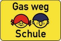 Gas weg Schule