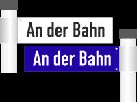 Straßennamenschilder doppelseitig bis 10 Zeichen