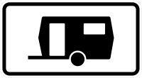 VZ 1010-13 Kennzeichnung von Parkflächen, auf denen Wohnwagen auch länger als 14 Tage parken dürfen