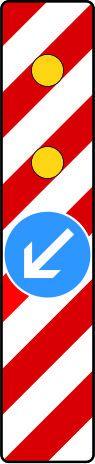 Warnbake, Aufstellung rechts mit Z. 222-10