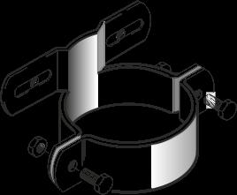 T-Schelle mit versetztem Steg, Steglänge 70 mm