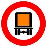 VZ 261 Verbot für kennzeichnungspflichtige Kraftfahrzeuge mit gefährlichen Gütern