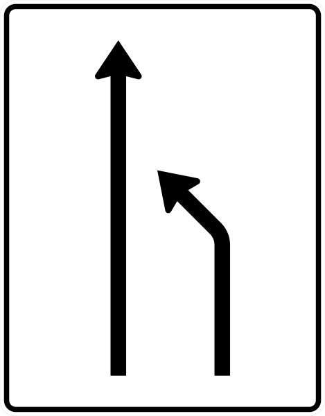 VZ 531-10 Einengungstafel