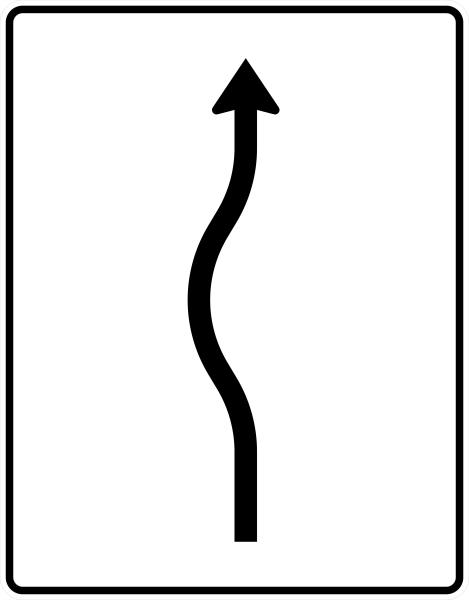 VZ 513-10 Verschwenkungstafel, kurze Verschwenkung