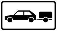 VZ 1010-59 Personenkraftwagen mit Anhänger