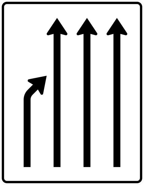 VZ 531-22 Einengungstafel