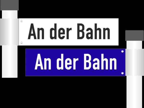 Straßennamenschilder doppelseitig bis 15 Zeichen