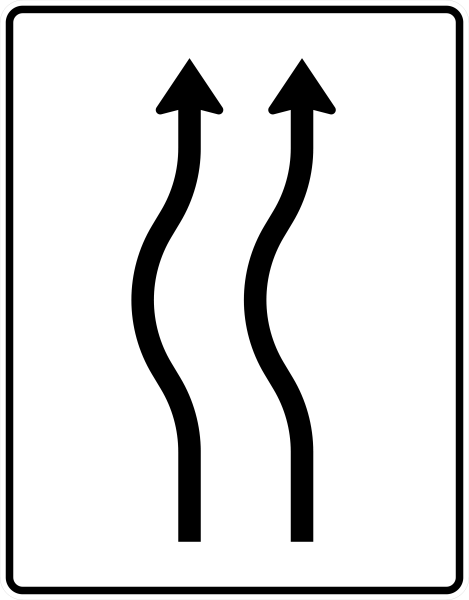VZ 513-11 Verschwenkungstafel, kurze Verschwenkung