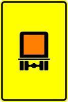 VZ 442-51 Vorwegweiser für kennzeichnungspflichtige Fahrzeuge mit gefährlichen Gütern, ohne Pfeilsym