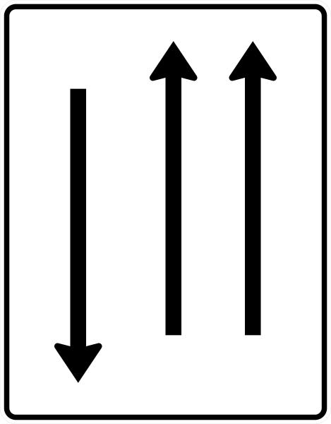 VZ 522-31 Fahrstreifentafel