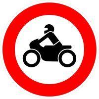 VZ 255 Verbot für Krafträder, auch mit Beiwagen, Kleinkrafträder und Mofas