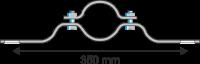 Rohrschelle Steglänge 350 mm