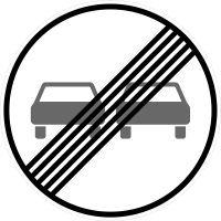 VZ 280 Ende des Überholverbots für Kraftfahrzeuge aller Art