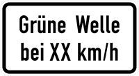 VZ 1012-34 Grüne Welle bei XX km/h