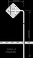 Ausleger Rohrpfosten 750mm