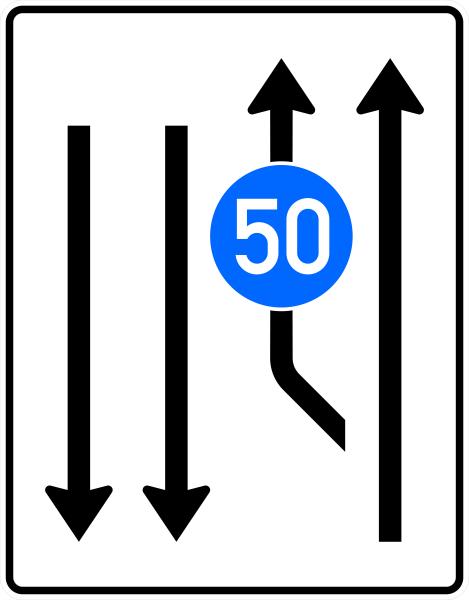 VZ 546-11 Aufweitungstafel mit 1 integr. Z 275