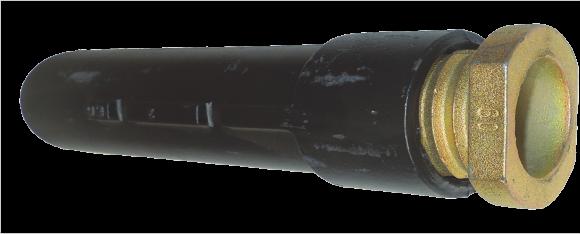 Bodenhülsen für Rohrpfosten, Grauguss, 500 mm lang