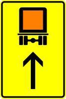 VZ 422-32 Wegweiser für kennzeichnungspflichtige Fahrzeuge mit gefährlichen Gütern, geradeaus