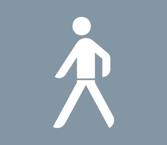 Straßenmarkierung aus Thermoplastik -Fußgänger-