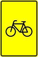 VZ 442-53 Vorwegweiser für Radverkehr, ohne Pfeilsymbol