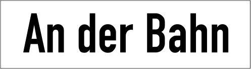 Straßennamenschilder in Emaille