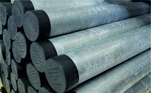 Rohrpfosten aus Aluminium Ø 76 mm