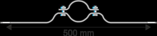 Rohrschelle Steglänge 500 mm