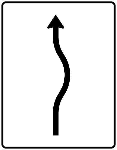 VZ 513-20 Verschwenkungstafel, kurze Verschwenkung