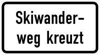 VZ 1007-56 Skiwanderweg kreuzt