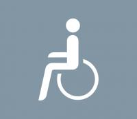 Straßenmarkierung aus Thermoplastik -Behinderte-