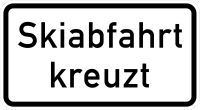 VZ 1007-55 Skiabfahrt kreuzt