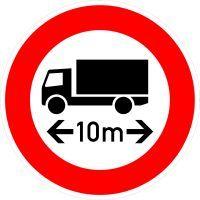VZ 266 Verbot für Fahrzeuge über angegebene tatsächliche Länge