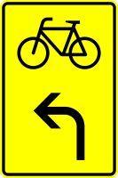 VZ 442-13 Vorwegweiser für Radverkehr, linksweisend