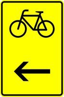 VZ 422-16 Wegweiser für Radverkehr, hier links