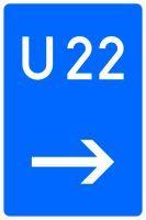VZ 460-21 Bedarfsumleitung, hier rechts