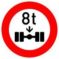 VZ 263 Verbot für Fahrzeuge über angegebene tatsächliche Achslast