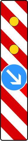 Warnbake, Aufstellung links mit Z. 222-20