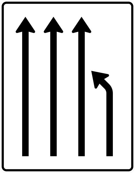 VZ 531-12 Einengungstafel