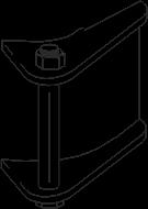 Spannschloß für Edelstahlband, mit geschlitzer M8 Schraube